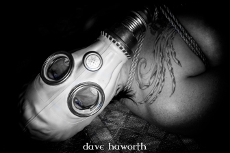 """""""Goodbye Blue Sky"""", photographed in a secret lair, Portland, OR 2015. © Dave Haworth. Rope/Photography: Me, Model: thatgirlbenny"""